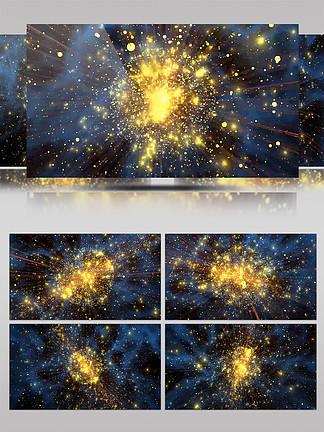 4K奢华粒子球体金色唯美特效背景