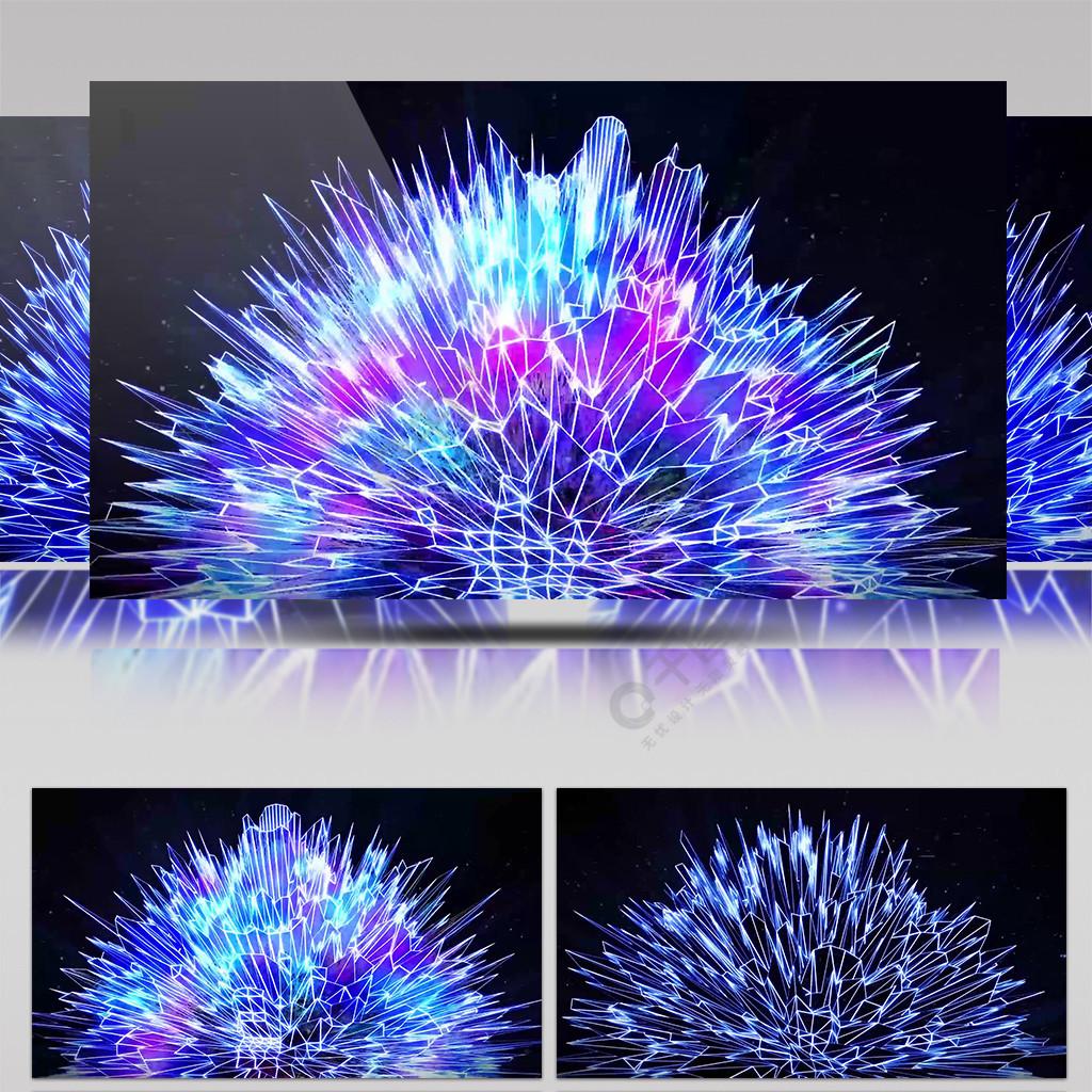 4K幻想空间水晶山选装酷炫背景