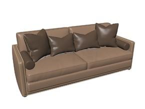3D高档豪华双人沙发椅模型