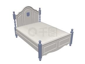 欧式床的3D模型