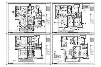 高层住宅<i>欧</i><i>式</i><i>装</i><i>修</i>CAD施工图