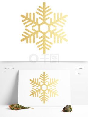 金色雪花装饰素材