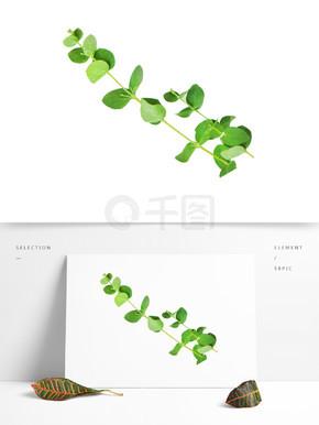 绿色树叶装饰素材