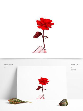 手绘水彩花朵文艺