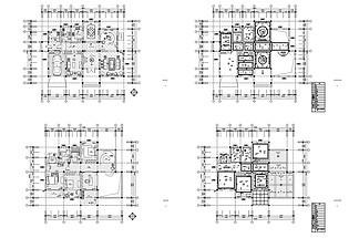 豪華別墅歐式風格設計CAD施工圖紙