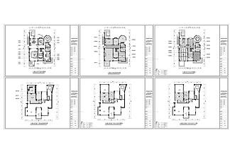 別墅裝修設計歐式風格CAD施工圖
