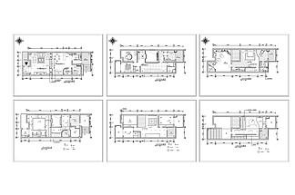聯排別墅歐式風格裝修CAD施工圖
