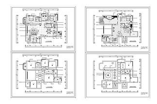 歐式風格別墅裝修CAD施工圖