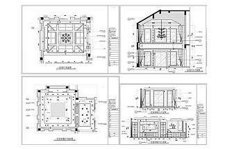 別墅歐式裝修CAD施工圖
