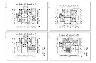 別墅歐式風格裝修CAD施工圖