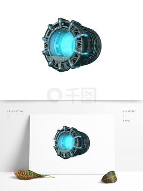 蓝色光的灯装饰素材