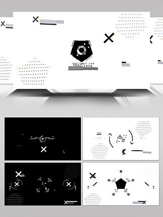 简洁时尚运动图形片头展示AE模板