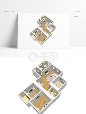样板房住宅透视模型
