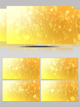 大气金色粒子闪光背景