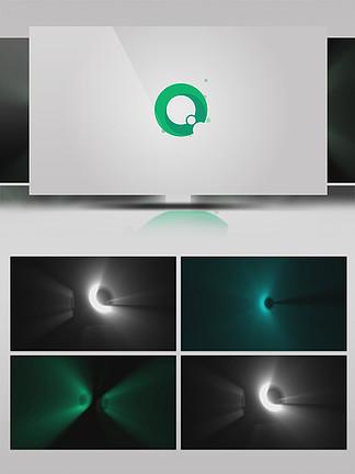 炫酷3d旋转企业logo展示AE模板