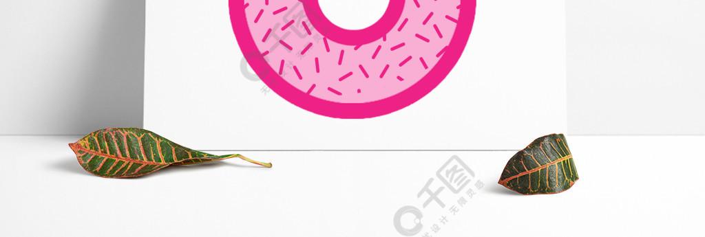 粉红色的甜甜圈素材