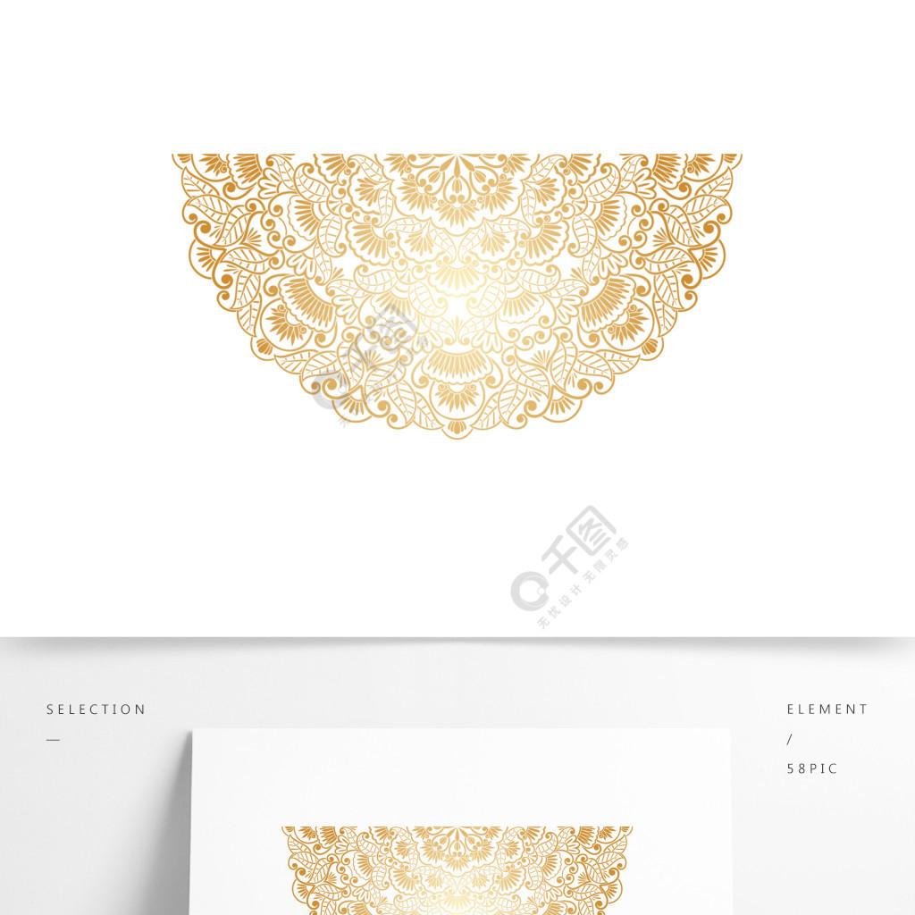 金色花纹装饰素材