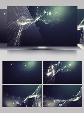 暗色调网状结构科技感特效背景