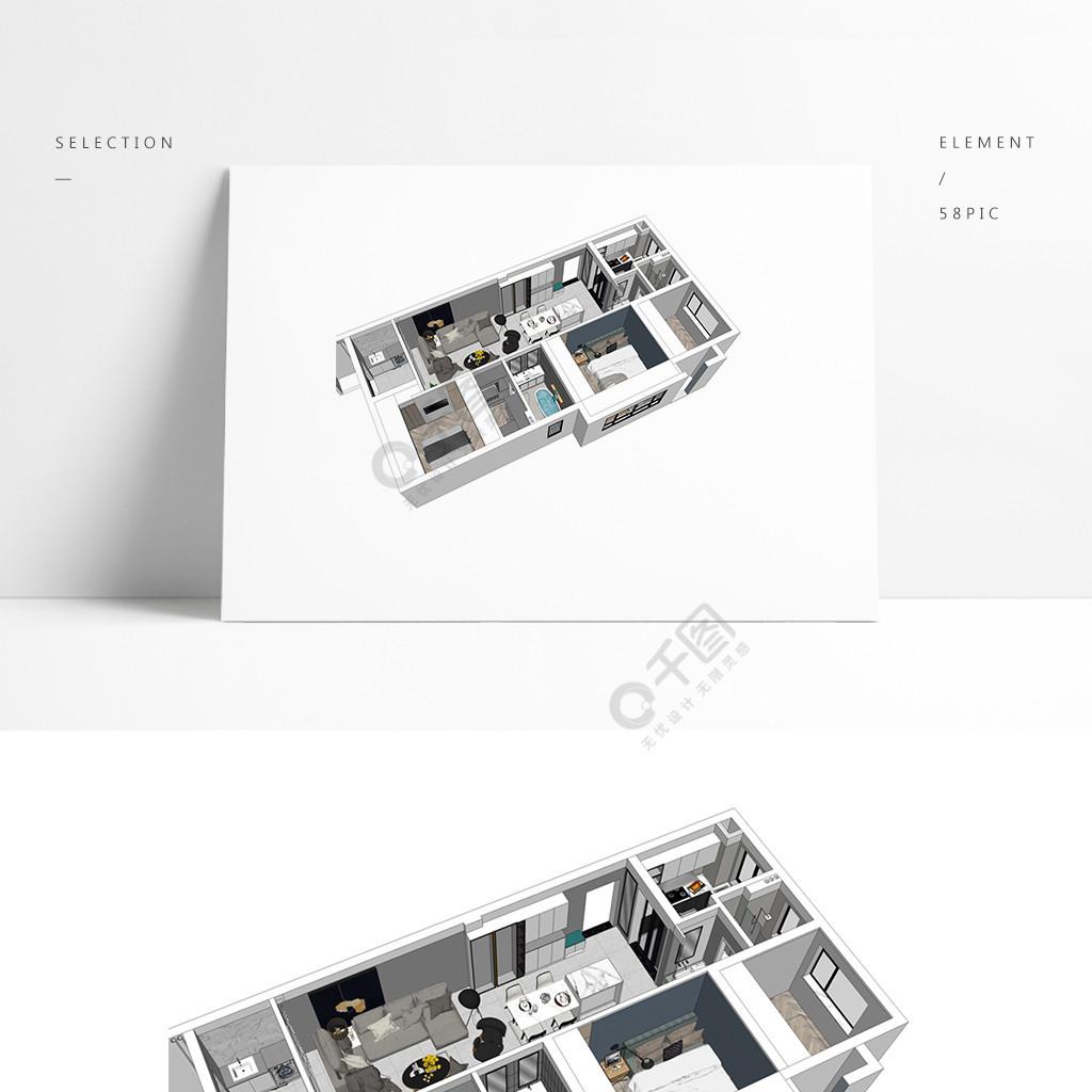 住宅样板房透视模型