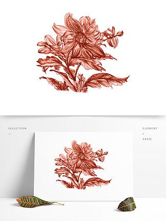 唯美粉色花朵装饰卡通?#35813;?#32032;材