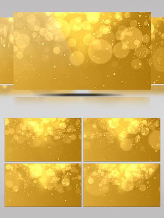 4K金色奢华粒子光斑雨下落唯美背景