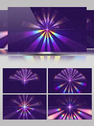 4K彩虹光束粒子空间唯美背景