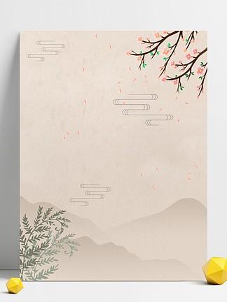 古典China风花卉复古�欧绻け驶�<i>背</i><i>景</i>