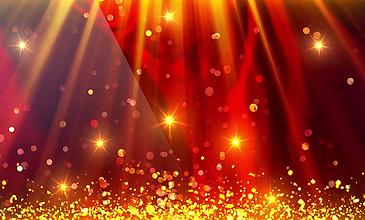 金色粒子光束上升颁奖LED背景视频素材