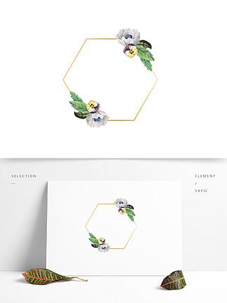 边框花卉婚礼矢量元素