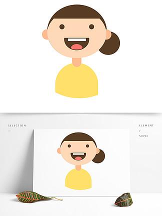 卡通笑脸娃娃设计素材免费下载 卡通笑脸娃娃设计图片 千图网平面设计