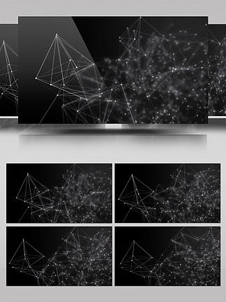 4K晶格点线粒子浮动几何背景视频素材