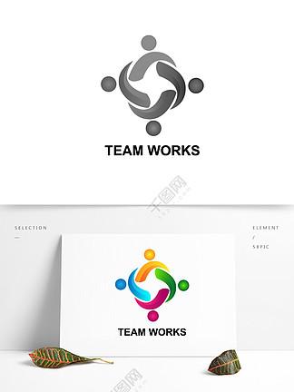 团队合作矢量图标元素