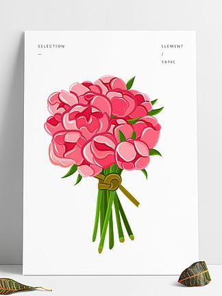 矢量卡通手绘卡通素材花一束花