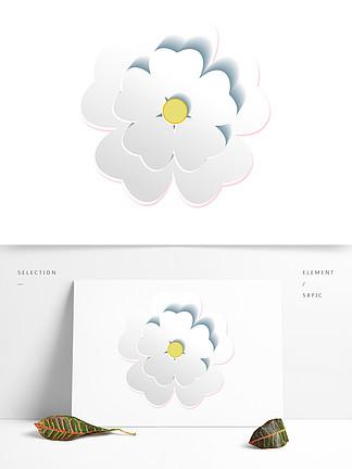 白色的花朵装饰素材