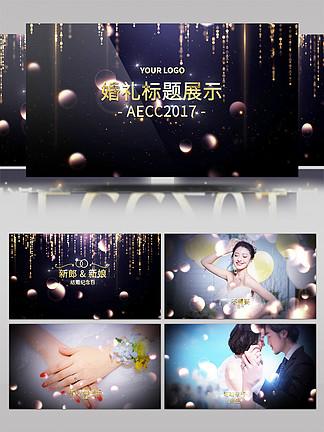 震撼大气金属粒子婚礼预告片AE模板