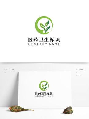 绿色医药卫生环保企业logo标识模板