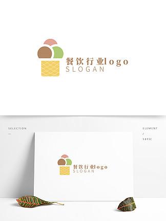 简约小清新餐饮行业logo