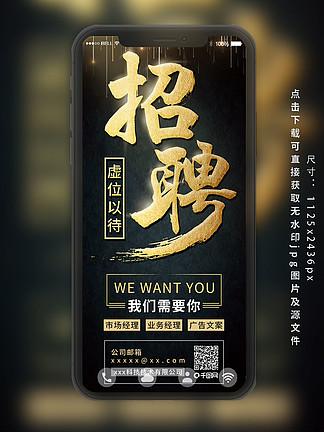 高端大气商务企业招聘邀请宣传海报