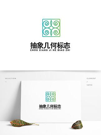 抽象几何图案logo