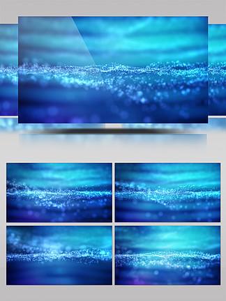 唯美藍色動態粒子漂浮<i>PPT</i><i>背</i><i>景</i>視頻素材