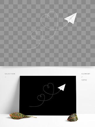白色的纸飞机素材