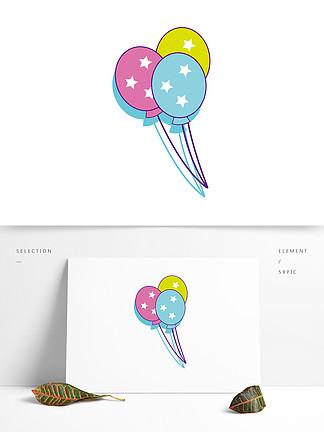 简约卡通可爱气球模板