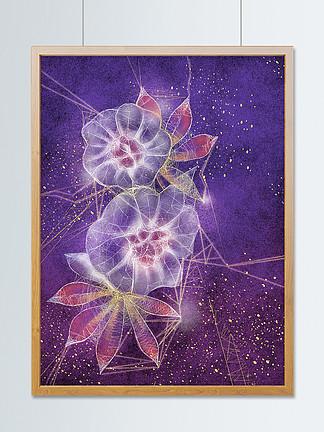 透明感趋势插画花卉