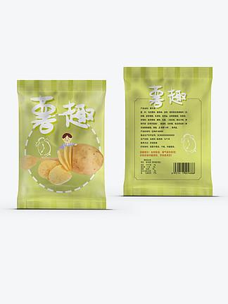 休闲零食美味薯片食品包装