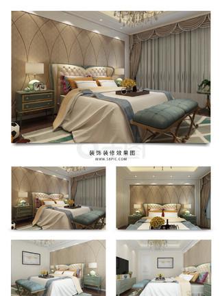 简约欧式卧室装饰装修<i>效</i><i>果</i><i>图</i>