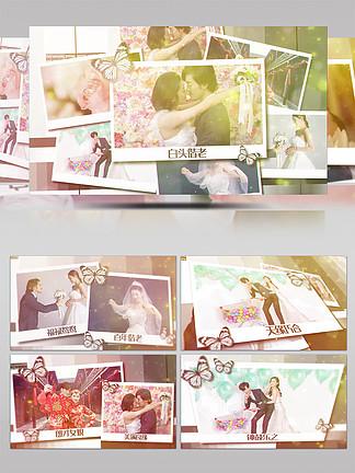 浪漫唯美相冊婚禮紀錄照片展示AE模板