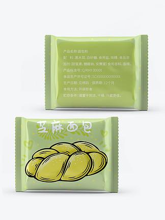 休闲零食牛奶芝麻面包食品包装