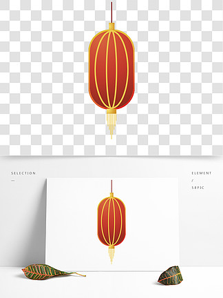 红色的灯笼装饰素材