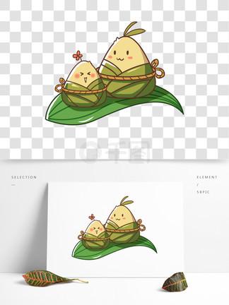 可爱粽子端午节日