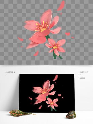 小清新花粉色花朵